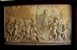 迦密山以利亞修道院的壁雕:以利亞在基順河擊殺巴力的先知