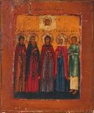 Святой пророк и провидец Моисей, Святой пророк Иоанн Предтечи, Ангел пустыни, Святой и праведный Симеон Богоприимец, и Праведная Анна пророчица, дочь Фануилова