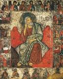 Илья Пророк в пустыне с житием и деисусом. Вторая половина XIII века. ГТГ