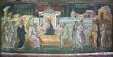 Лука и Клеопа встречают воскресшего Господа по пути в Эммаус