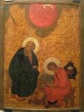 Евангелист Иоанн с учеником Прохором на  о.Патмос