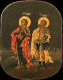 Икона апостола и евангелиста Иоанна Богослова и мученика Лонгина сотника