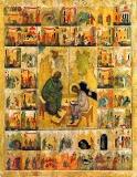 Иоанн Богослов с Прохором на острове Патмос, с хождением Иоанна Богослова