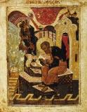 Святой Лука, пишущий икону. XVI в