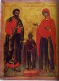 Иоаким и Анна с Богоматерью (двустороняя икона)