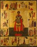 Икона Св.Георгий в житии