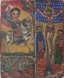 Святой мученик Георгий и Распятие с предстоящими