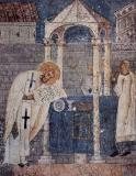 Василий Великий совершает проскомидию