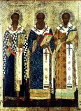 Св. Василий Великий, Григорий Богослов,Иоанн Златоуст
