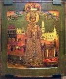 Икона со сценами убийства царевича Димитрия и погребением