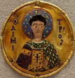 Медальон с изображением великомученика Димитрия Солунского
