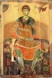 Дмитрий Солунский на троне с мечом