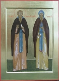 Прпп. Евфросин и Серапион Псковские.