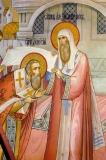 Митрополит Московский и всея Руси Алексий посвящает архимандрита Дионисия во епископа Суздальского.