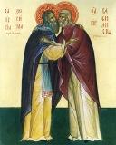 Икона преподобных Василиска Сибирского и Зосимы (Верховского)