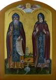 Икона Преподобные Амфилохий и Иова Почаевские