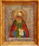 Икона святого преподобного Ионы Киевского с частицей его мощей