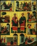 Святые бессребреники Космы и Дамиана с житием