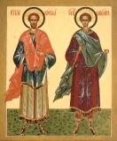 Святые бессребреники Косма и Дамиан Асийские.
