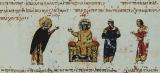 Лазарь Иконописец :: Император Феофил и монах Лазарь