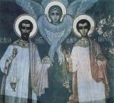 Марк, Кирилл Арефусийские :: Священномученики архидиаконы Кирилл и Папила
