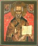 Николай чудоторец с приписными Вседержителем и Богородицей