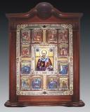 Икона Николая Чудотворца с житием