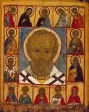 Икона Св. Никола с избранными святыми