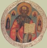 Святитель Николай с приписными святыми Саввой и Варварой