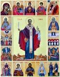 Святитель Николай с престольными иконами храмов Алчевского благочиния