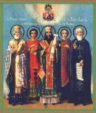 Святые Николай чудотворец, Пантелеймон целитель, Феодосий Угличский, св. Трифон, Сергий Радонежский