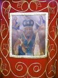 хоругвь c изображением иконы Николая чудотворца,
