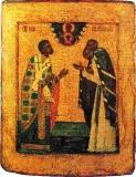 Никита, Затворник Печерский, епископ Новгородский, и преподобный Сергий Радонежский