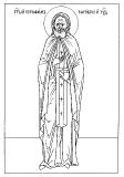 прорись иконы  прп.Серафим Саровский чудотворец