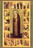 Икона святого Преподобного Серафима, Саровского чудотворца с житием