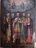 Тит чудотворец :: Святые Александр Невский, прп. Тит, прп. Иосиф песнописец, св. Иоанн Креститель, мч. Поликарп