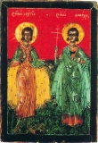 Икона святых Сергия и Вакха