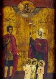 Христофор святой :: Икона Св Христофор, Св София и дети её Свв Любовь, Вера и Надежда,