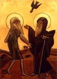 Святой Антоний Великий и Павел Отшельник