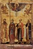Ангелина Сербская  :: Свв. Савва I архиепископ, преподобная Ангелина деспотисса Сербская, святой Иоанн (Бранкович) и святой Стефан деспот