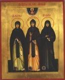 Икона преподобных Александры, Марфы и Елены Дивеевских