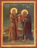 Преподобный Зосима и преподобная Мария