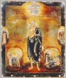 Преподобная Мария Египетская со сценами жития