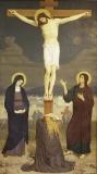مريم المجدلية تبكي عند صلب المسيح.