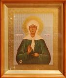 Икона святой блаженной Матроны Московской с частицей ее мощей
