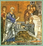 Тавифа Иоппийская :: Воскрешение святой св. апостолом Петром