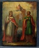 Капитолина Каппадокийская ::  Святые Екатерина и Капитолина