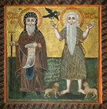 Святые Антоний Великий и Павел Фивейский.