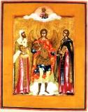 Архангел Михаил, Леонтий Ростовский и Иоанн Кущник