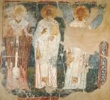 св.Игнатий Богоносец, Григорий Богослов (Назианзин)  и Иоанн Златоуст